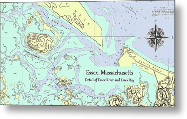 Essex River Detail Metal Print