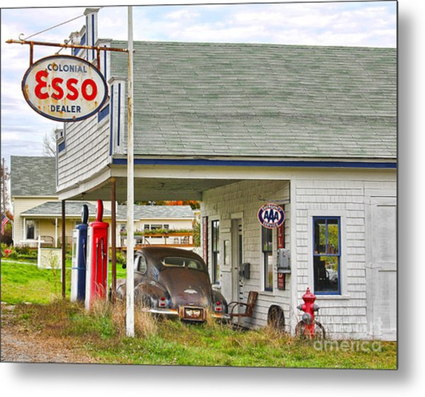 Esso Gas Staion Metal Print