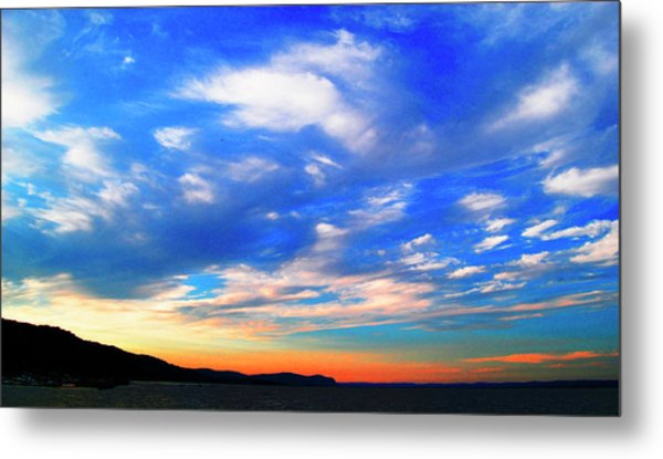 Estuary Skyscape Metal Print