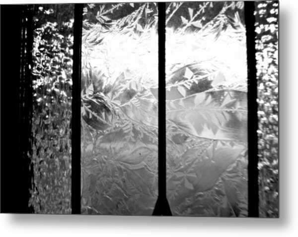 Etched In Glass Metal Print by Laura DAddona