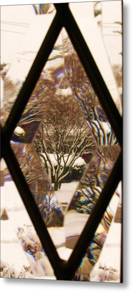 Etched Window View Metal Print by Anna Villarreal Garbis