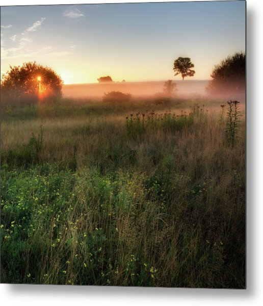 Ethereal Sunrise Square Metal Print