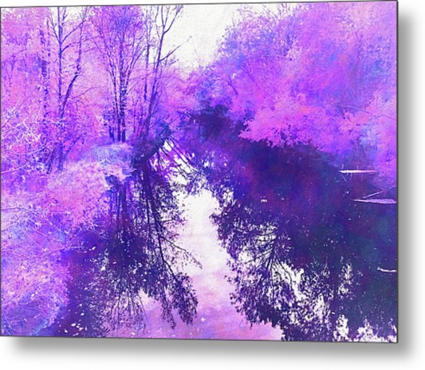 Ethereal Water Color Blossom Metal Print