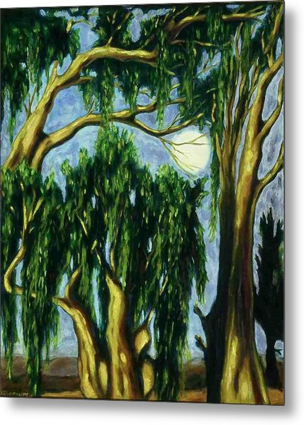 Eucalyptus Moon Metal Print by Helen O Hara