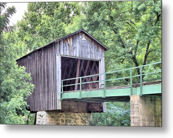 Euharlee Creek Covered Bridge Metal Print