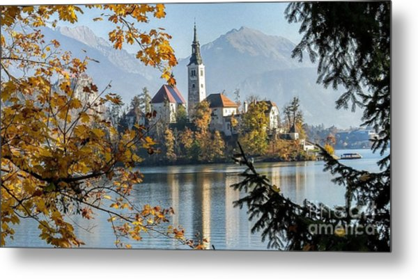 European Beauty Metal Print