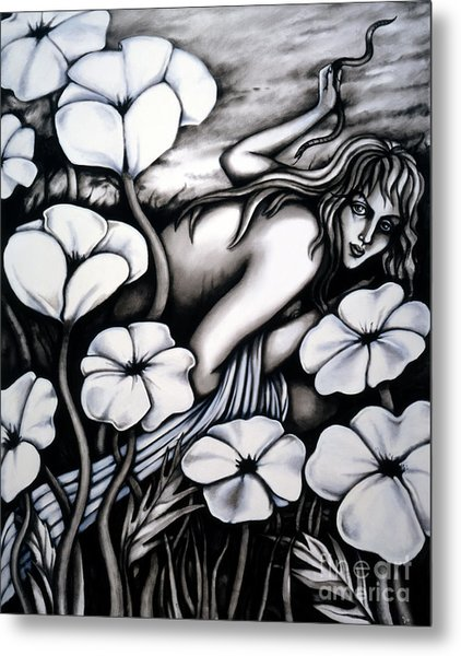 Metal Print featuring the painting Eva by Valerie White