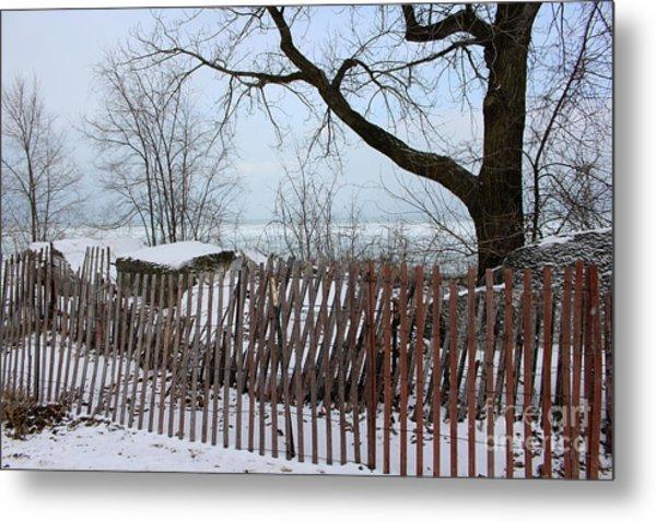 Evanston Winter Metal Print