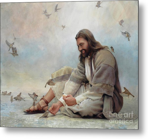 Metal Print featuring the painting Even A Sparrow by Greg Olsen