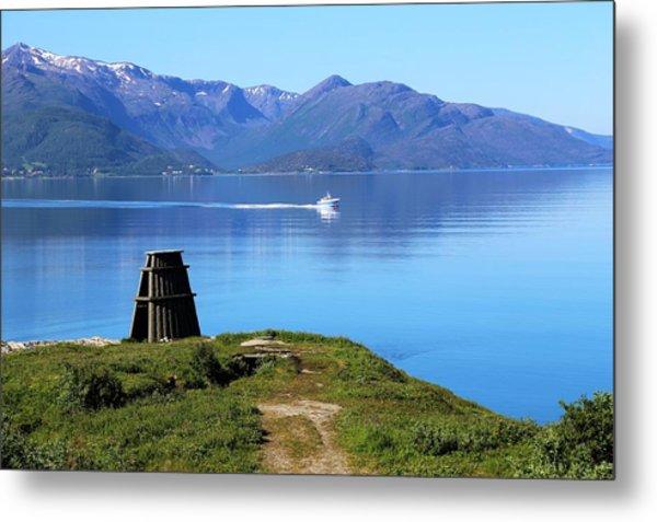 Evenes, Fjord In The North Of Norway Metal Print