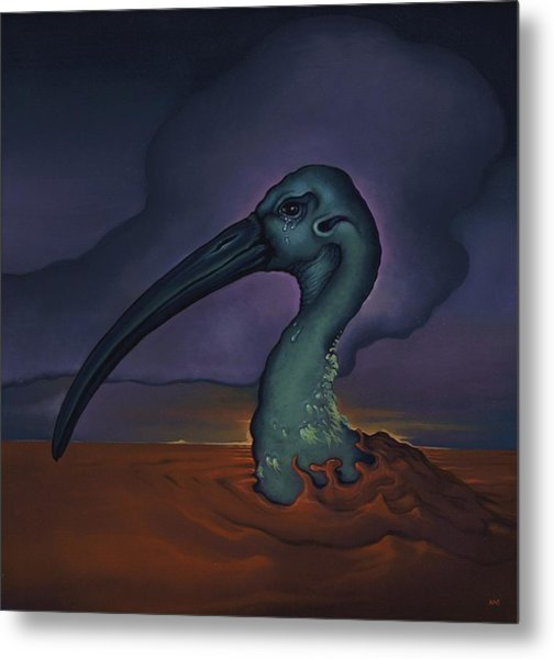 Evening And The Hiss Of Sadness Metal Print