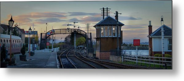 Evening At Bo'ness Station Metal Print
