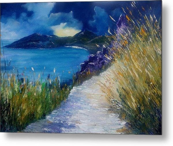 Evening At Keem Bay Co Mayo Metal Print