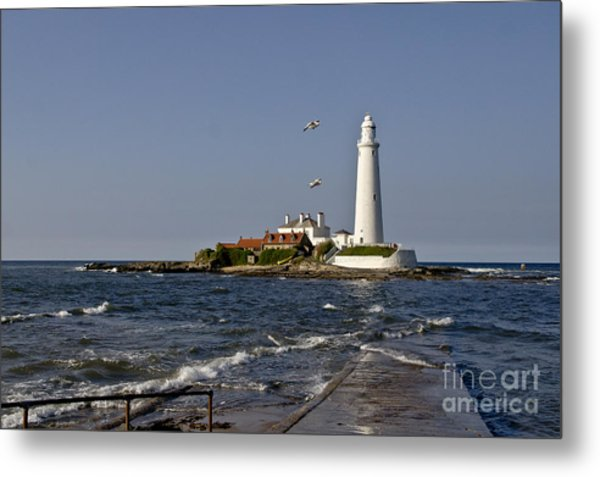 Evening At St. Mary's Lighthouse Metal Print