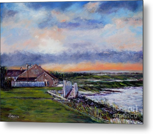 Evening At The Bay Metal Print by Joyce A Guariglia