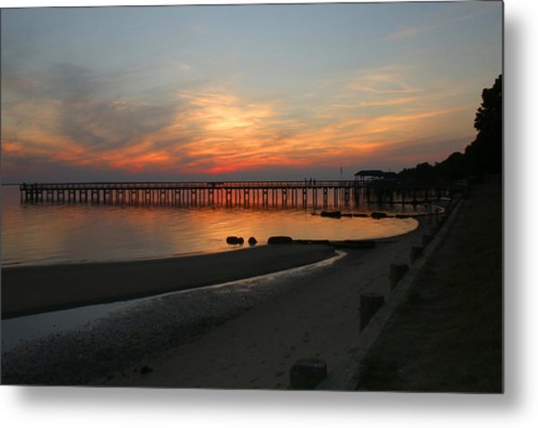 Evening At The Hilton Pier  Metal Print
