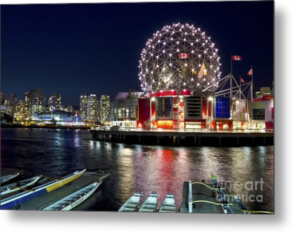 Evening By Science World Vancouver Metal Print