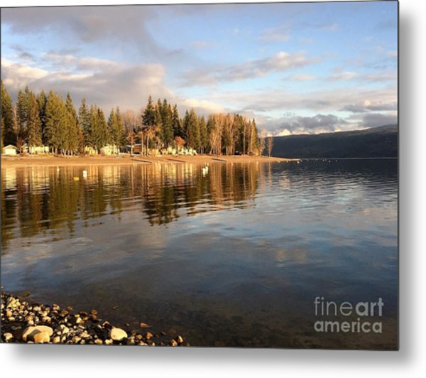 Evening By The Lake Metal Print
