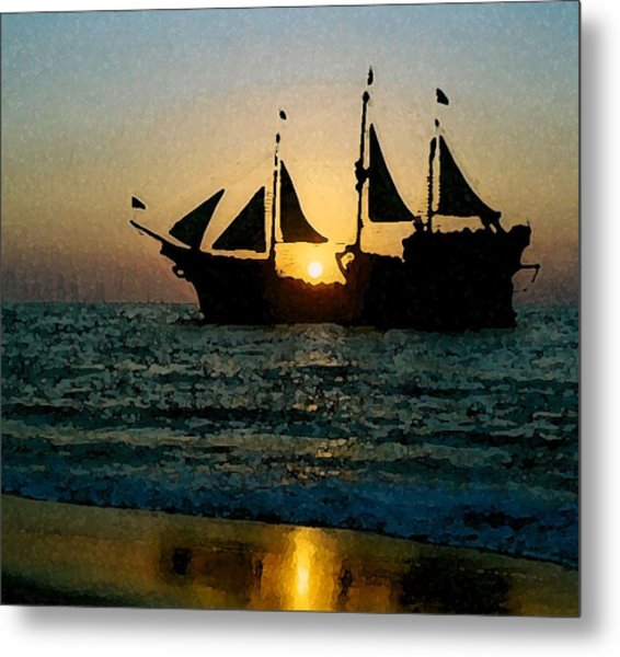 Evening Cruise Metal Print by Brent Easley