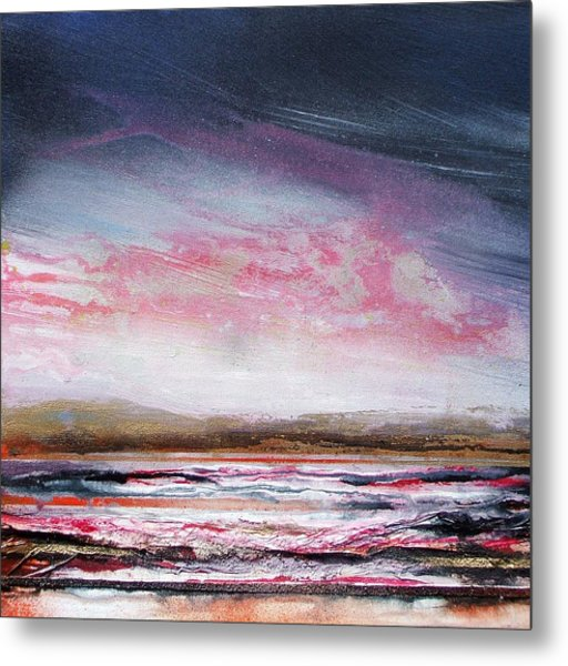 Evening Druridge Bay Northumberland Metal Print by Mike   Bell