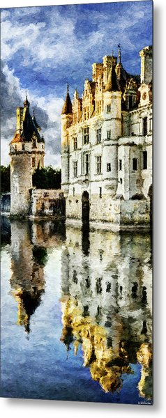 Evening Falls At The Castle Metal Print