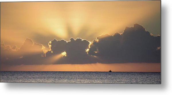 Metal Print featuring the photograph Evening Fishing by David Buhler