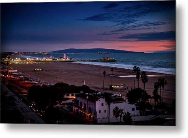 Evening Glow On The Pier Metal Print