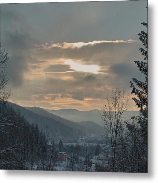 Evening In Carpathians. Sheshory, 2010. Metal Print