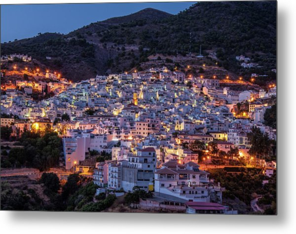 Evening In Competa Metal Print