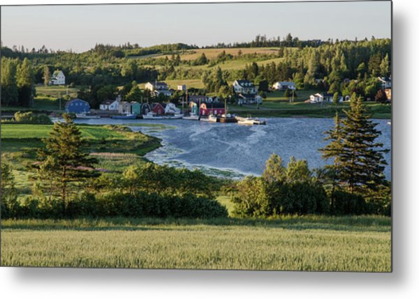 Metal Print featuring the photograph Evening In French River, Pei. by Rob Huntley