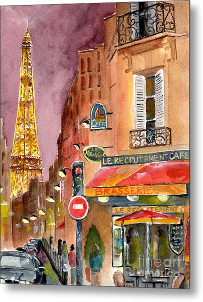 Evening In Paris Metal Print