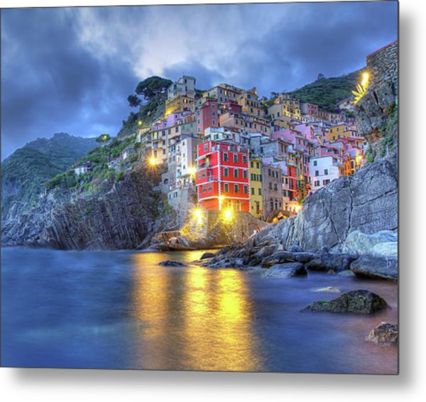 Evening In Riomaggiore Metal Print
