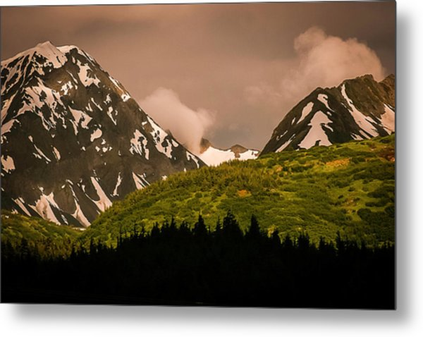 Evening Light Kenai Peninsula Metal Print