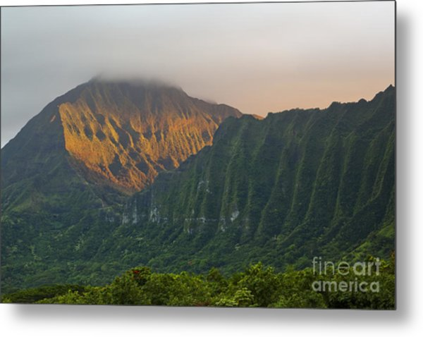 Evening Light On Ko'olau Mountains Metal Print