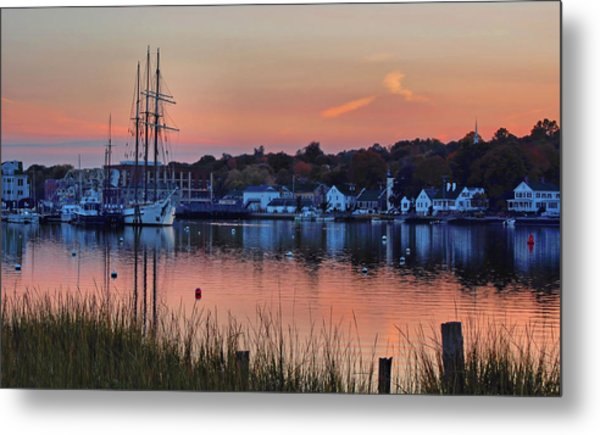 Evening Light Over Mystic Metal Print