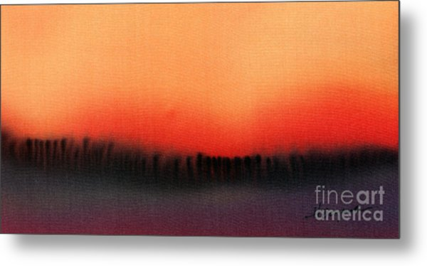 Evening Mist Metal Print by Addie Hocynec