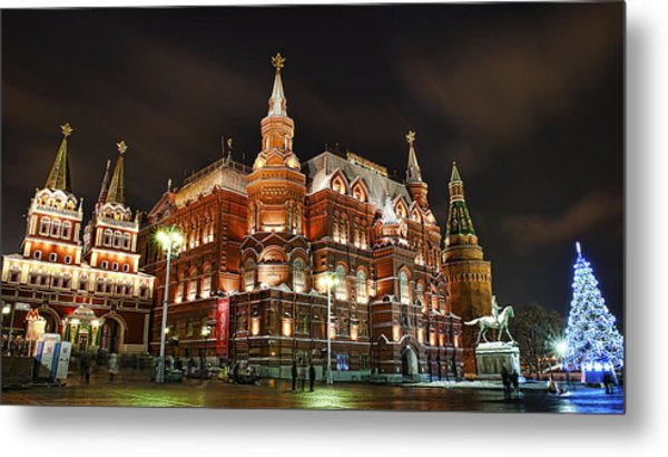 Evening Moscow  Metal Print