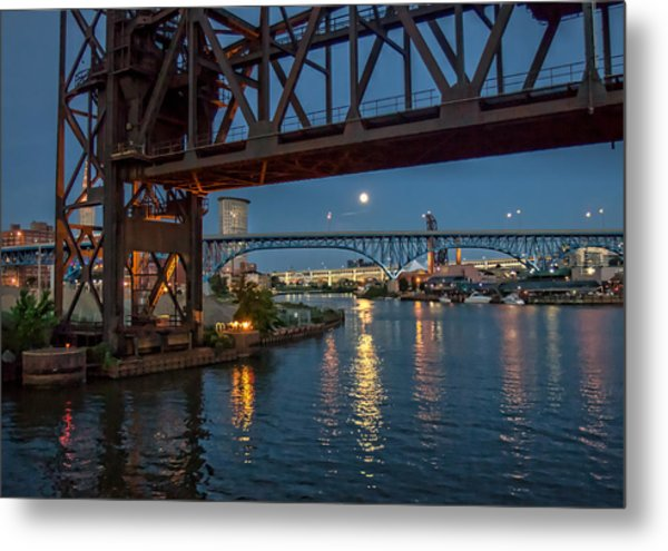 Evening On The Cuyahoga River Metal Print