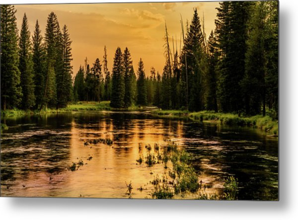 Metal Print featuring the photograph Evening On The Henry's Fork  by TL Mair