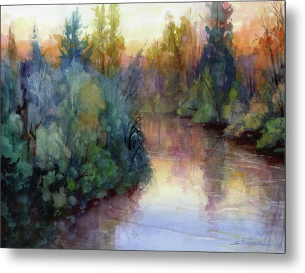 Evening On The Willamette Metal Print