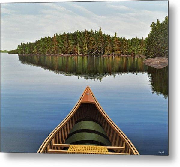 Evening Paddle  Metal Print