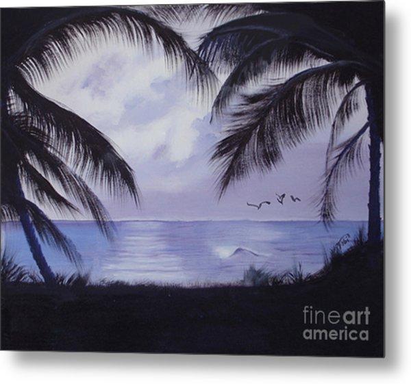 Evening Palms Metal Print by Tobi Czumak