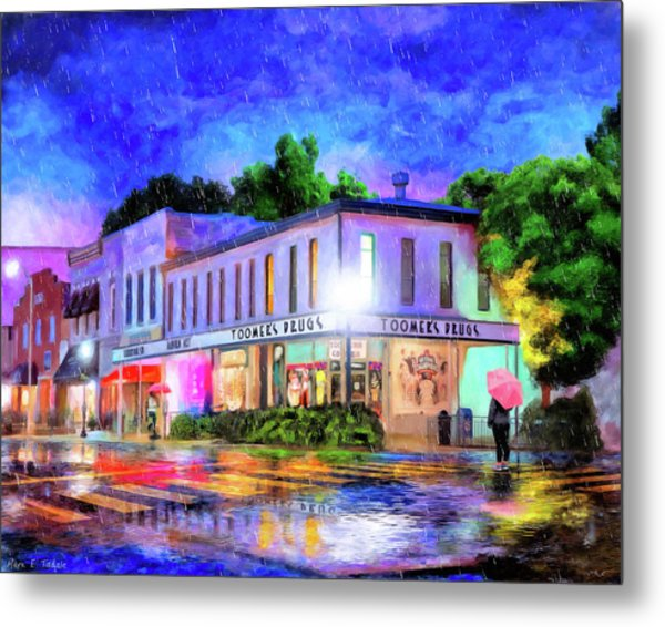 Evening Rain In Auburn Metal Print