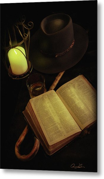 Evening Reading Metal Print