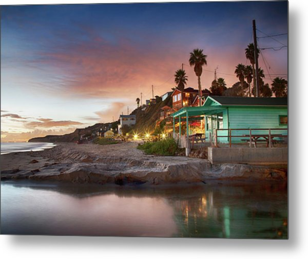 Evening Reflections, Crystal Cove Metal Print