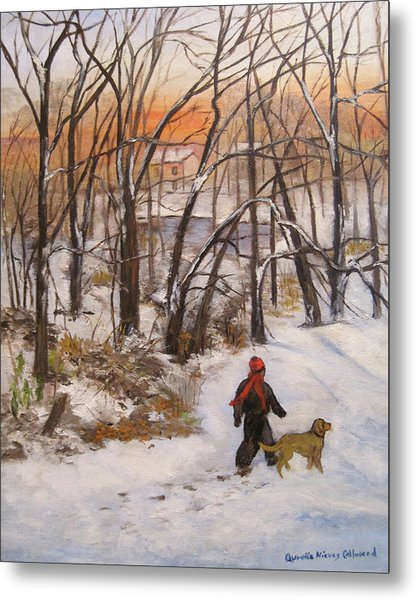 Evening Stroll Metal Print by Aurelia Nieves-Callwood