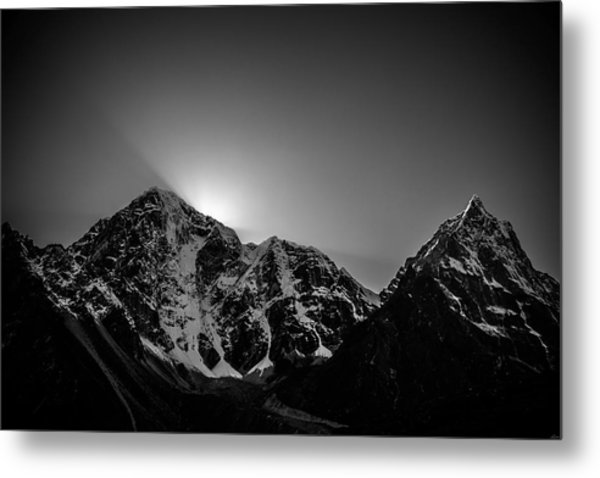 Metal Print featuring the photograph Evening Sunbeams In Pheriche by Owen Weber