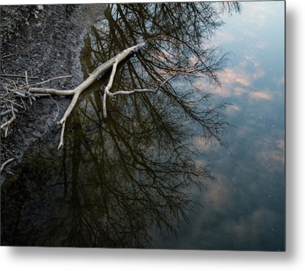 Evening Sunset Reflection Metal Print
