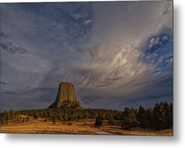 Evening Time At Devils Tower Metal Print