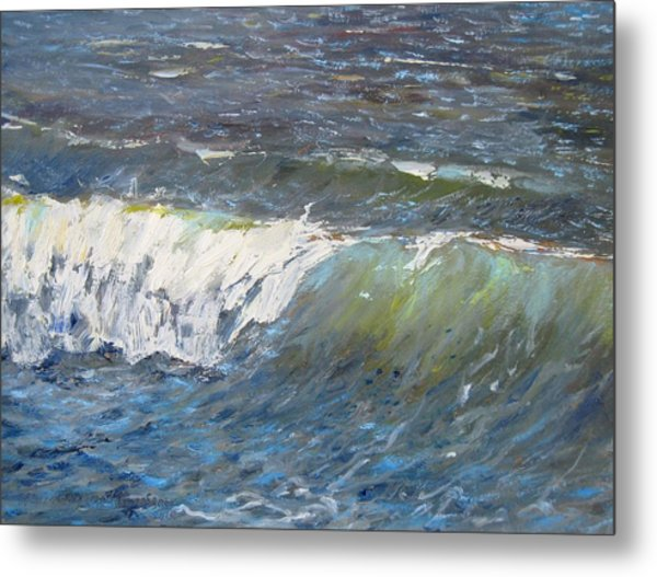 Evening Wave Metal Print by Thomas Glass Phinnessee